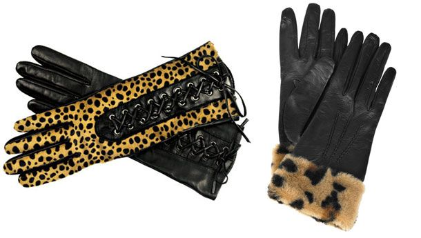 Leoparlı eldiven