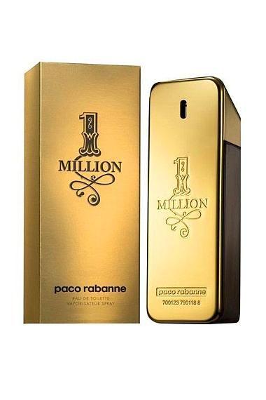 Paco Rabanne One Million Edt 100mL 134,99 TL  Paco Rabanne'ın Black XS'den sonraki yıldızı. Mutlaka denenmesi gereken bir parfüm. Dinamik, enerji dolu ve tutkulu. Üst notalarda kırmızı mandalina, greyfrut ve nane Orta notalarda saf gül, tarçın ve baharatlar Alt notalarda sarı meşin paçuli, beyaz odunlar ve amber.  Gece ya da gündüz One Million her anınıza uyacak.