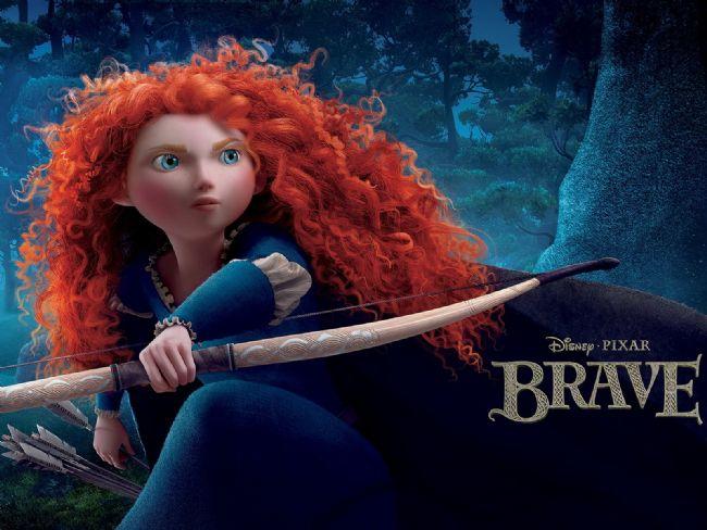 """Kızıl saçlı prenses Merida'nın kendi yolunu bulmak için verdiği mücadeleyi anlatan """"Brave"""", En İyi Animasyon ödülünü kazandı."""