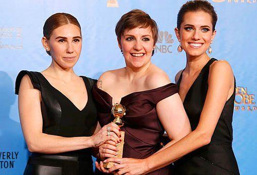 """En İyi Kadın Oyuncu Komedi-Müzikal dalında """"Girls"""" dizisi ile Lena Dunham'ın oldu."""