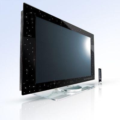 """LCD Televizyon Yalos Diamond LCD televizyonun çerçevesi elmaslarla süslü. İnsanlar ekrana mı bakar, elmaslara mı bilinmez ama şimdiye kadar pek çok Arap bunu aldı. Fiyatı: """"130"""" bin dolar."""