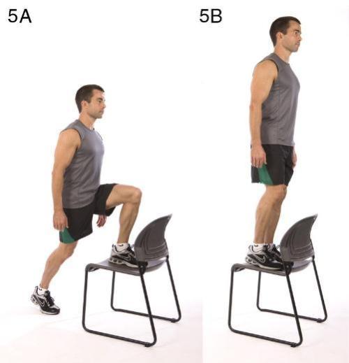5- Sandalye adımlama