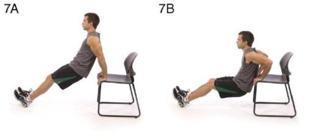 7- Sandalye ile triceps egzersizi