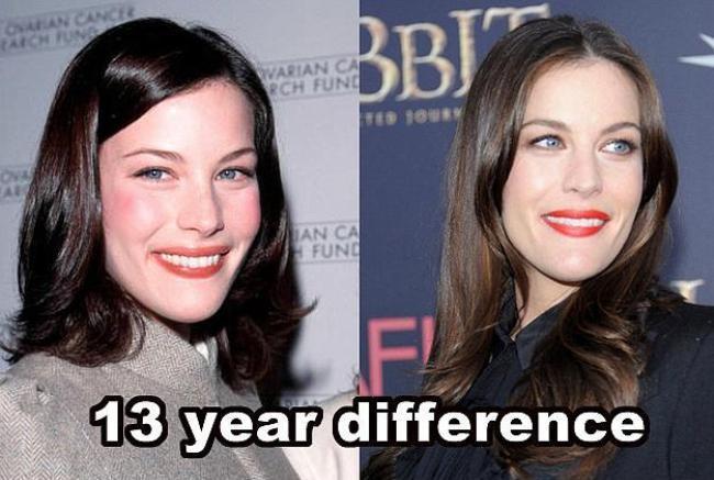 Liv Tyler  13 yıl farkla.