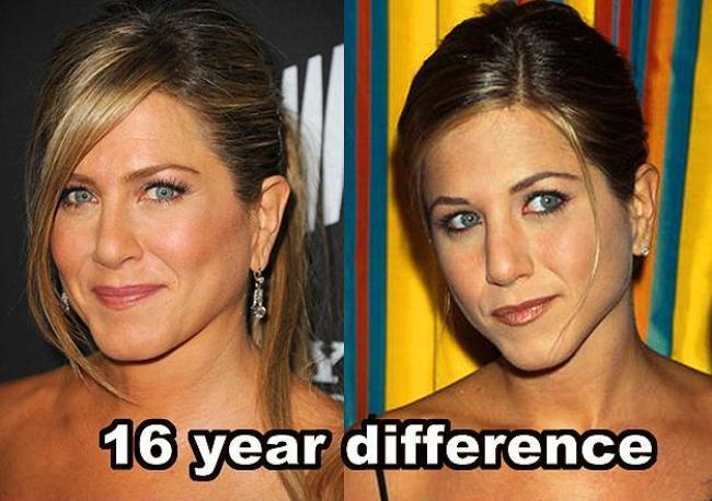 Jennifer Aniston  16 yıl farkla.
