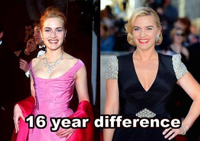 Kate Winslet  16 yıl farkla.
