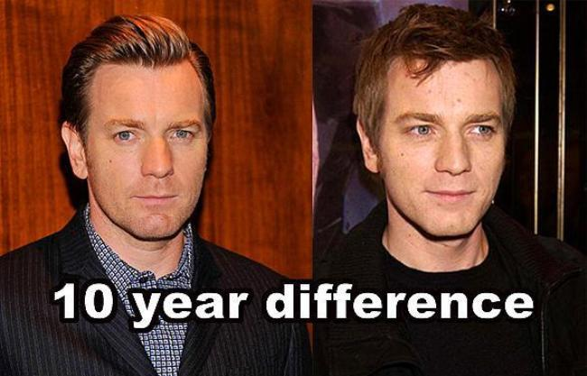 Ewan McGregor  10 yıl farkla.  (onedio)