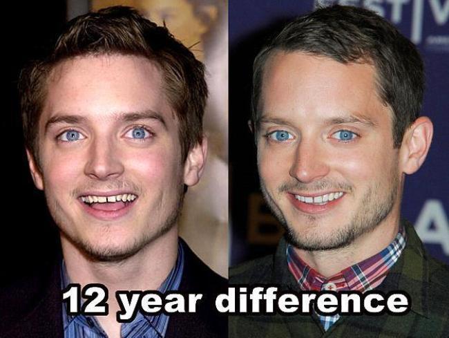 Elijah Wood  12 yıl farkla.