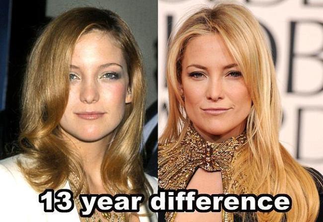 Kate Hudson  13 yıl farkla.