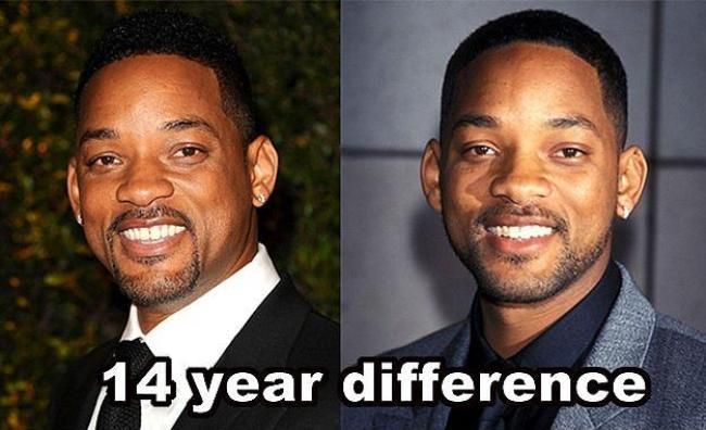 Will Smith  14 yıl farkla.