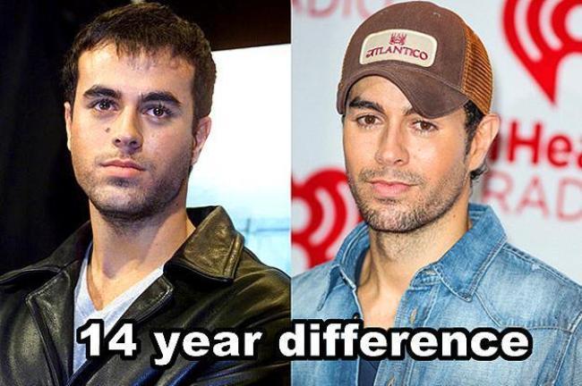 Enrique Iglesias  14 yıl farkla.