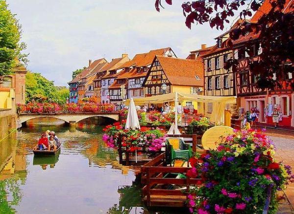 Colmar, Fransa'da bir botta...