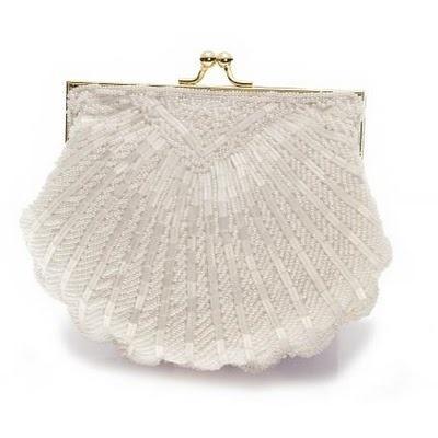 Midye şeklinde gelin çantası