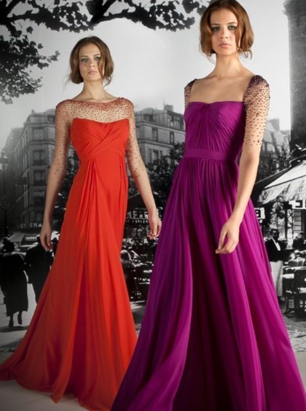Dantel detaylı nişan elbisesi