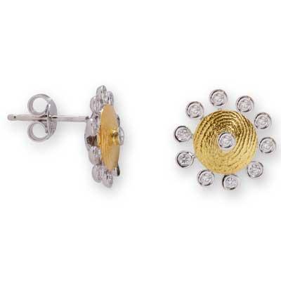 Pırlanta Parmak İzi Altın Küpe Palama  Kişiye özel, parmak izinden yapılan ve eşi benzeri asla olmayacak bir hediye