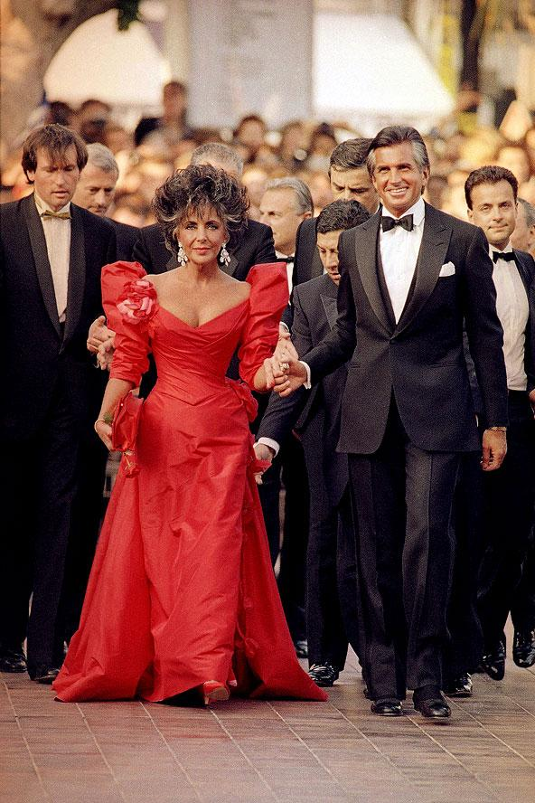 Elizabeth Taylor 1987'de Cannes Film Festivali'nde.