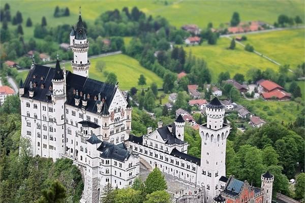 Almanya - Neuschwanstein Kalesi- Schwangau - Rüya kent