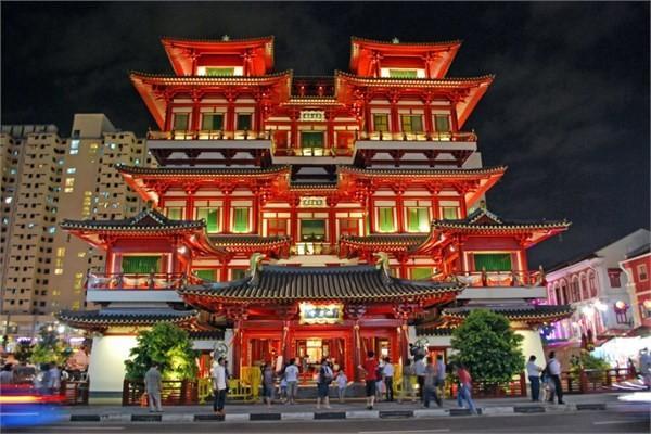 Singapur - Buddha Tooth Relic Tapınağı ve Müzesi