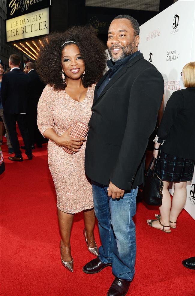 Oyuncu Oprah Winfrey ve yönetmen Lee Daniels