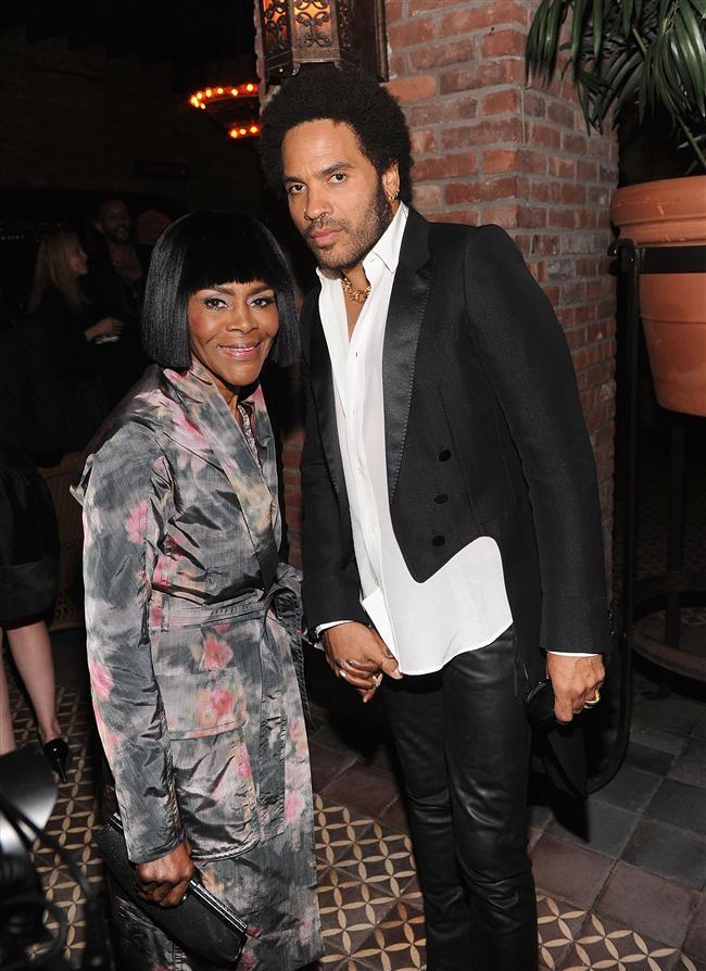 Cicely Tyson ve şarkıcı Lenny Kravitz