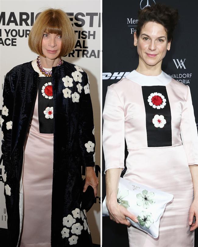 Vogue dergisinin müdürü Anne Wintour ve Bibiana Beglau