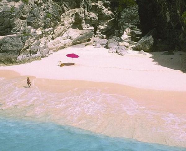 Pembe kum plajı - Bahamalar