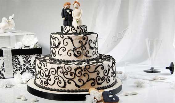 Tasarım harikası düğün pastaları - 22
