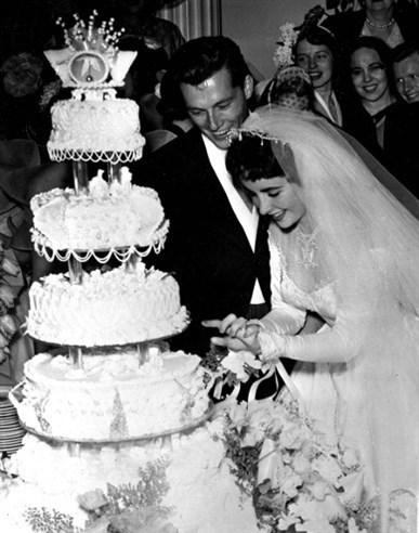 Elizabeth Taylor ve Conrad Nicky Hilton, 1950.