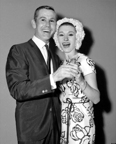 Johnny Carson ve Joanne Copeland, 1963.