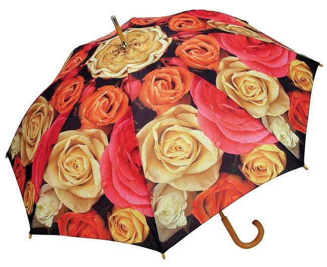 Gül desenli şemsiye