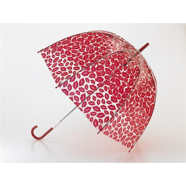 Öpücük detaylı kırmızı şemsiye