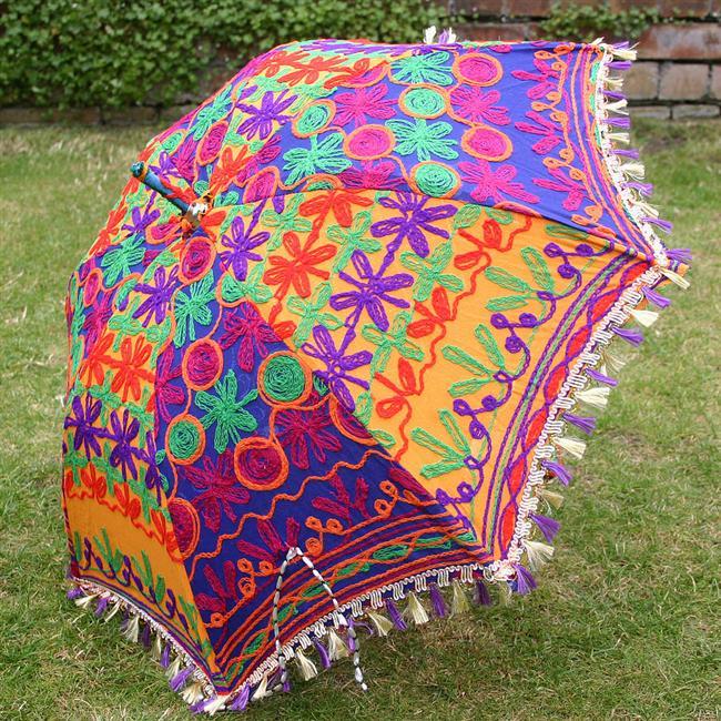 Yöresel motifli rengarenk şemsiye
