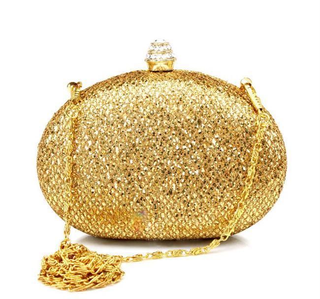 Altın sarısı kaplama portföy çanta