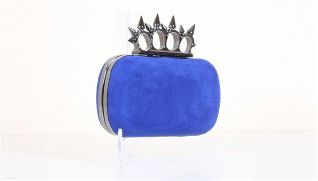 Saks mavisi renkte portföy çanta