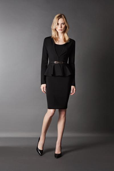 Siyah bluz ve etek