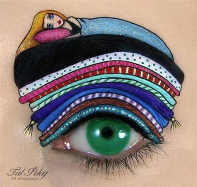 İsrailli makyaj sanatçısı Tal Peleg, yaptığı göz makyajlarıyla görenleri şaşırtıyor... Makyajdan ziyade bir ressam gibi çalışmalarda bulunan Peleg, yeteğiyle diğer makyözlere de ilham kaynağı oluyor.