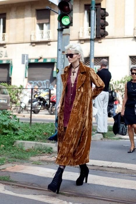 Kahverengi süet palto