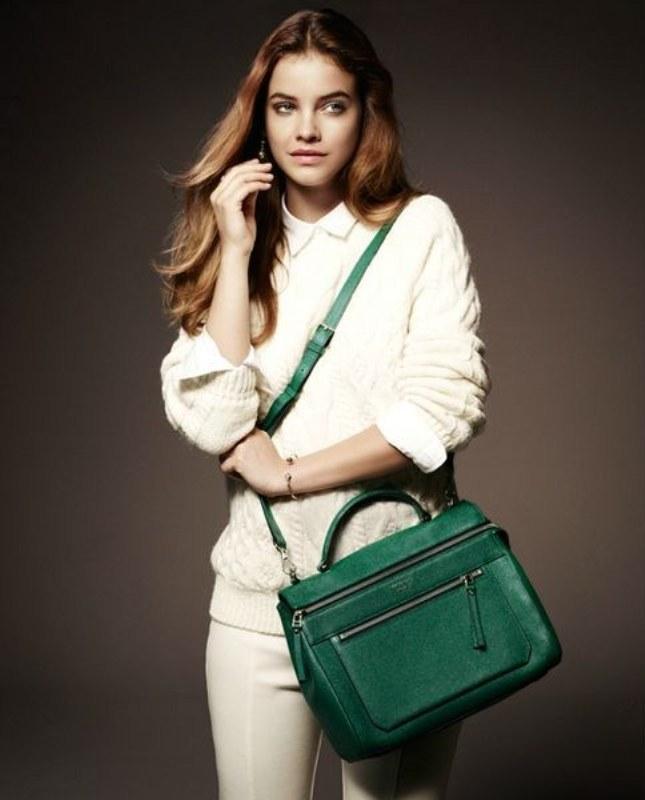 Deri yeşil askılı çanta