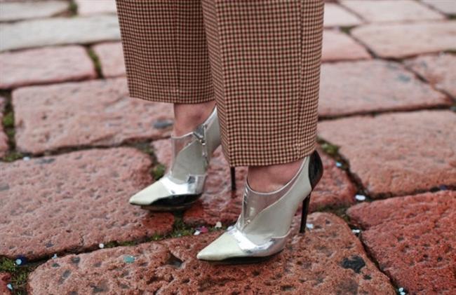 Metalik  ayakkabı