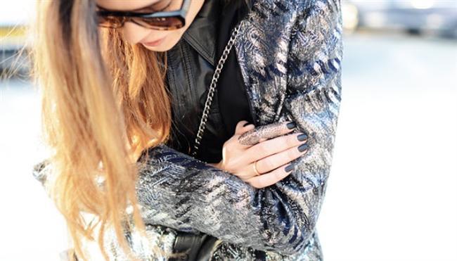 Metalik  ceket