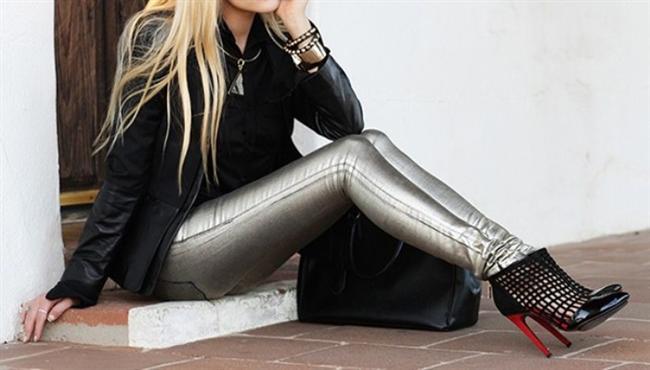 Metalik pantolon
