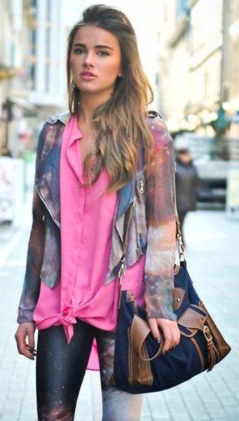 Pembe renkte ipek gömlek