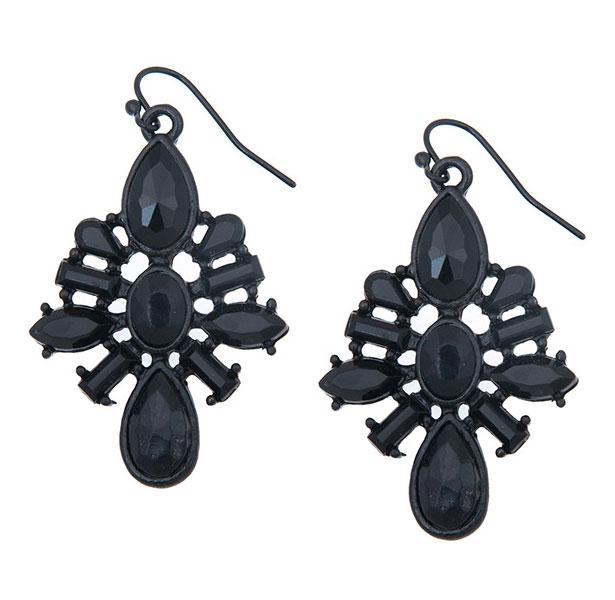 Simli siyah elbisenizi bu parlak küpelerle tamamlayabilirsiniz.