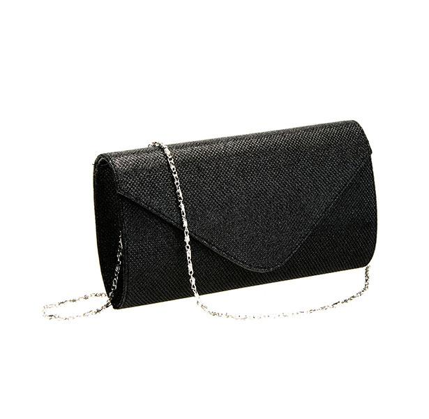 Bu simli zarf çanta ile simli elbiseniz muhteşem bir uyum yakalayacak!
