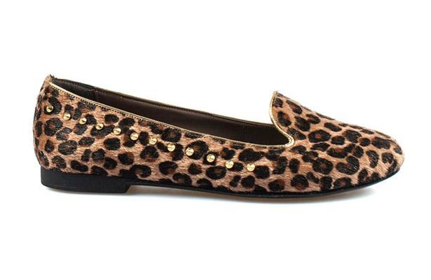 Leopar desenli ayakkabı