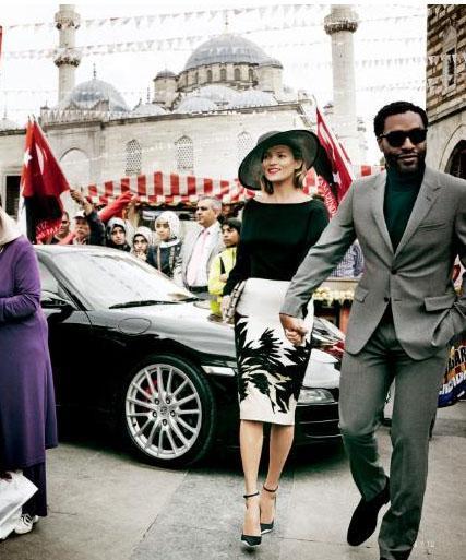 Kate Moss ve BAFTA ödüllü oyuncu Chiwetel Ejiofor, Amerikan Vogue dergisi için İstanbul'da fotoğraf çekimi yaptı.