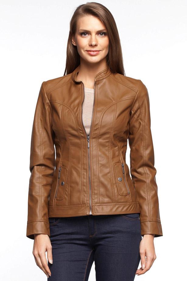Trend modeli ile şık bir tasarıma sahip, rahat kalıbı ile üzerinizde fit bir görünüm sağlayacak fermuarlı deri ceket