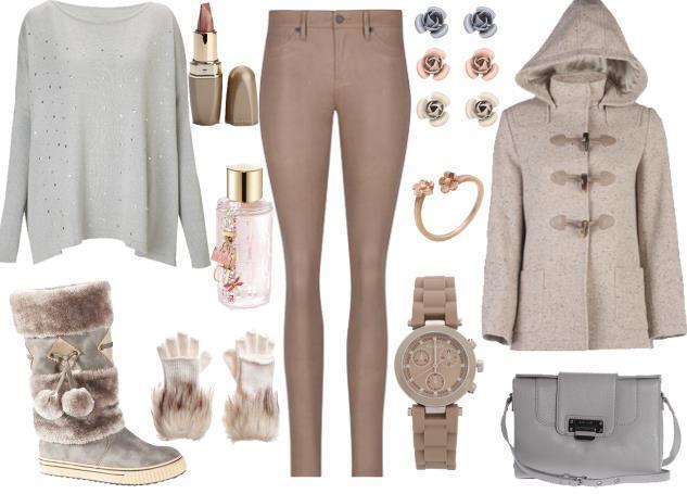 Dapdar kahve tonundaki pantolonuzu krem rengindeki paltonuzla kombinleyip kış aylarının keyfini çıkarabilirsiniz.