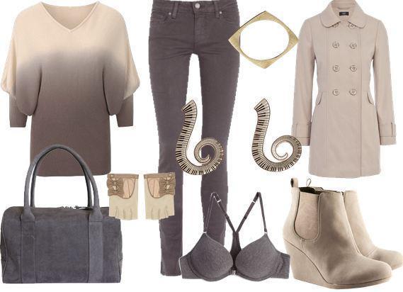 Ekru renkteki pantolonuzu krem renkteki dolgu topuk süet ayakkabınızla kolaylıkla kullanabilirsiniz.
