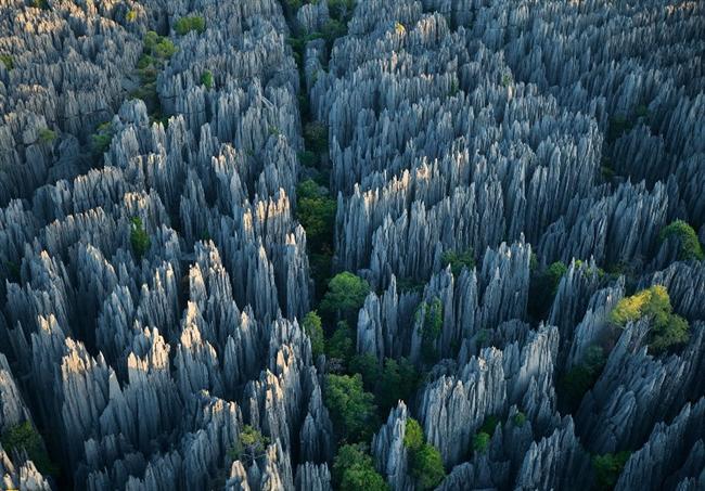 Taş Orman, Çin  Tam 400 kilometrelik bir alana yayılmış olan, dünyanın kayalardan oluşmuş en büyüleyici yapısı, Çin'deki Taş Orman. Ormandaki kayalar, kireç ve suyun etkileşimiyle çok uzun yıllar içinde oluşmuş.